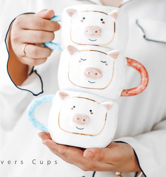 Unique Pig Coffee Mug Cup