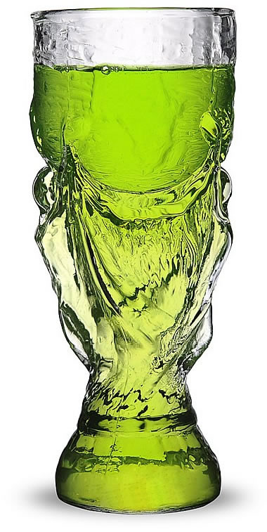 World Cup Glass Clear Beer Mug Feelgift