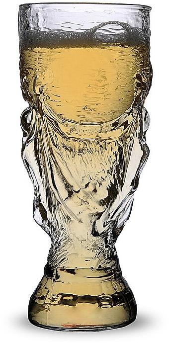 World Cup Glass Clear Beer Mug