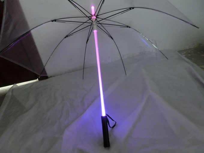 Runner Light Saber LED Light up Flashlight Transparent  Umbrella
