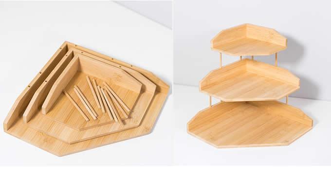 3-Tier Bamboo Corner Shelf