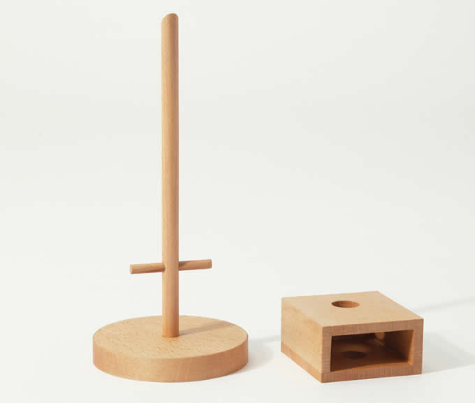 3 Tier Wooden Office Desk Organizer,Beech Wood