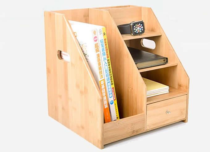 Bamboo Magizine File Rack School & Office Supplies Organizer