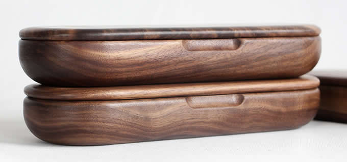 Black Walnut Wood Pen Pencil Case Box