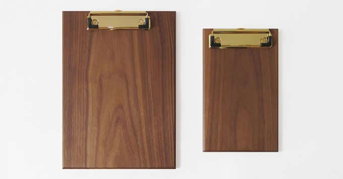 Brass & Wooden Clipboard Standard  Low Profile Clip