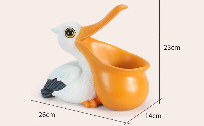 Cute Animals Resin Pen Pencil Holder Storage Box Desk Organizer Accessories