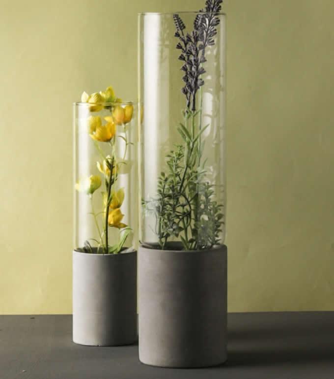 Handmade Concrete Amp Glass Vase Feelgift
