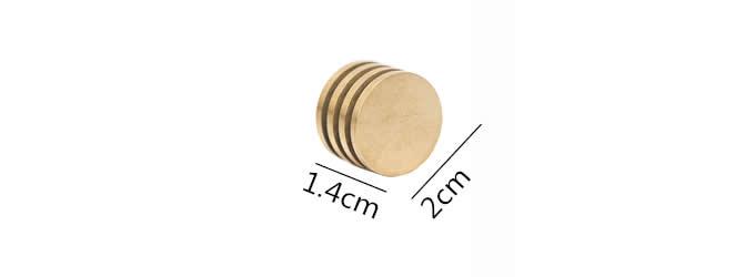 Modern Round Brass  Place Card Holder Photo Card Holder