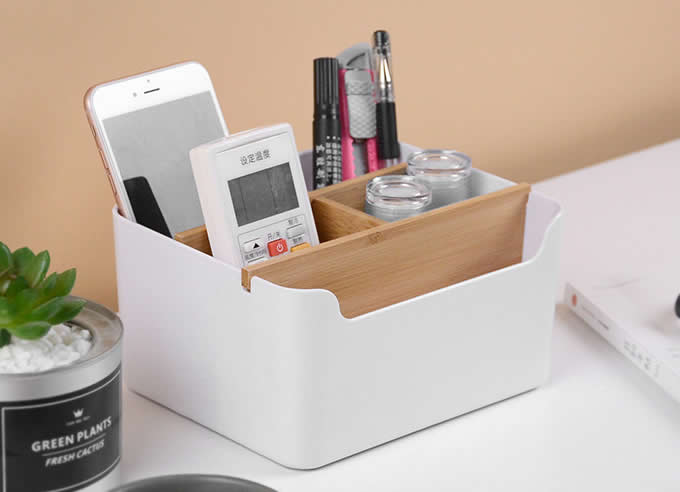 Multipurpose Desk Organizer Pen Pencil Holder Desk Supplies Storage Box