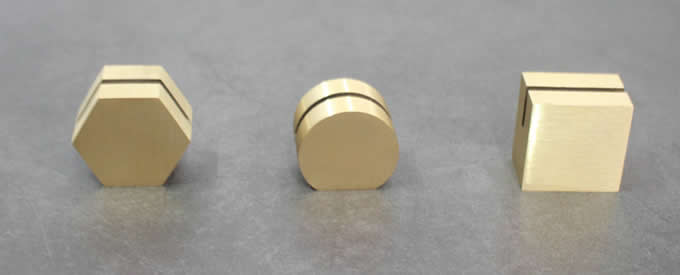 Simple Brass Place Card Holder Set