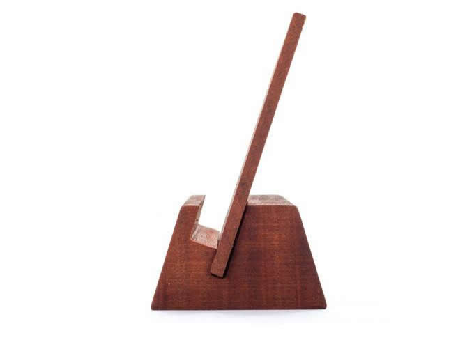 Wooden Cell Phone Stand Holder Place Card Holder Photo Card Holder