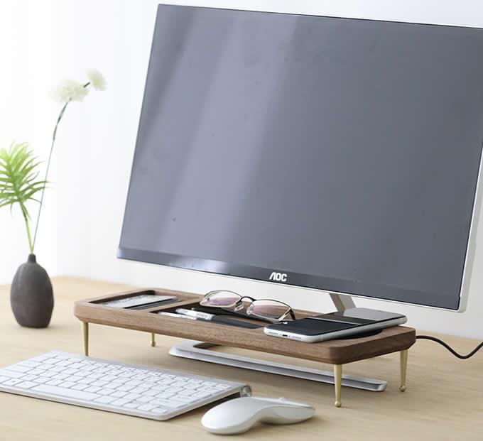 Wooden Office Desktop Computer Desk Keyboard Shelf Storage