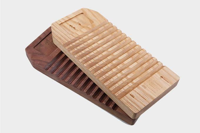 Wooden Office Supplies Desktop Storage Box Tray Solid Wood Pen Holders