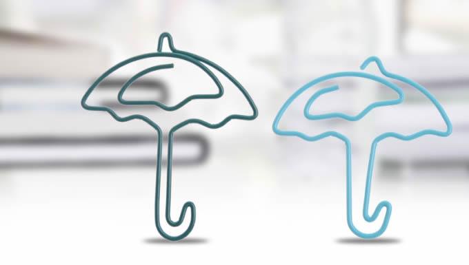 12PCS Umbrella Shaped Paper Clips