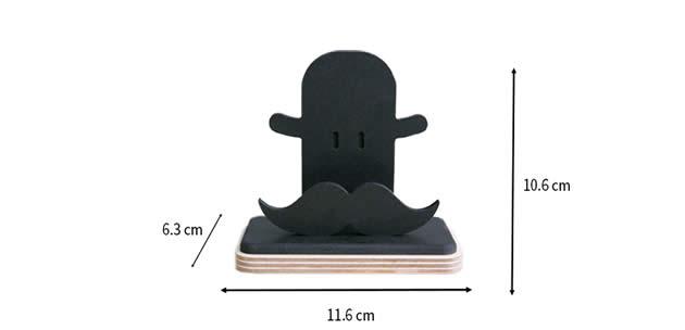 Creative Big Bearded Business Card Holder Display Holder