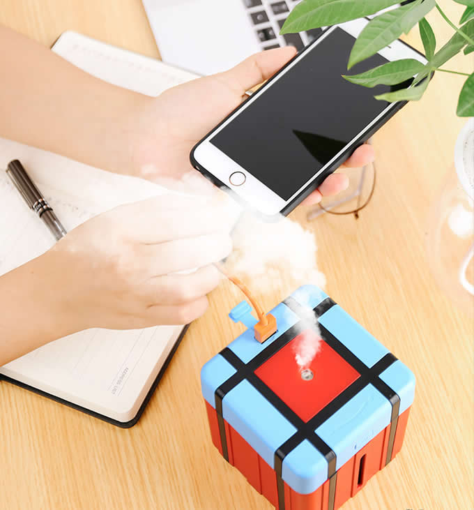 Airdrop Box Humidifier Mini USB Ultrasonic Home Office Desktop Pubg Airdrop Bag Humidifier