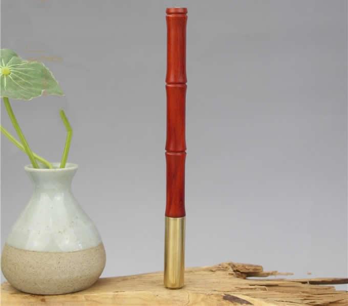 Bamboo Style Wooden Brass Ballpoint Pen