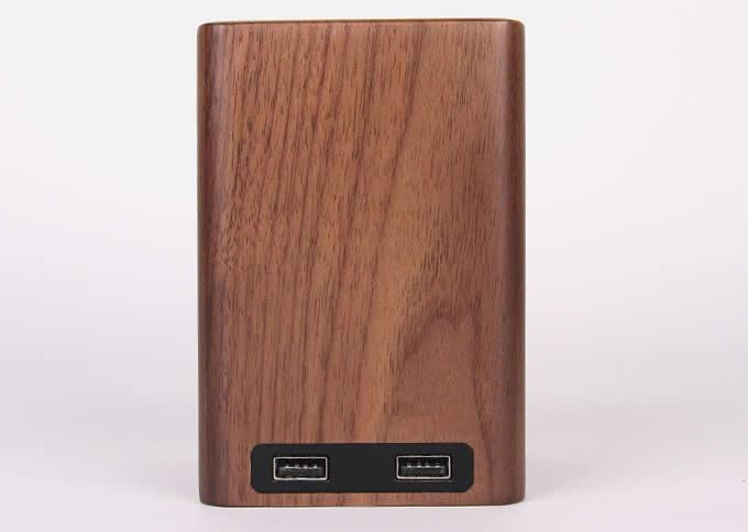Black Walnut Wooden Pen Holder with 2 USB Charging Port