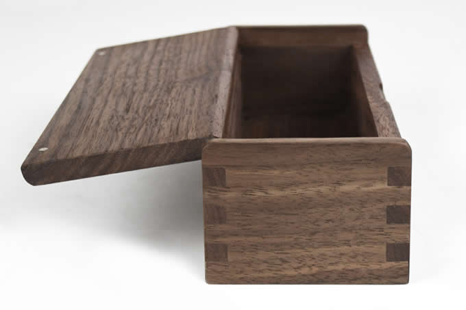 Black Walnut Wooden Stationery Pen Pencil Jewelry Cosmetic Storage Box Case