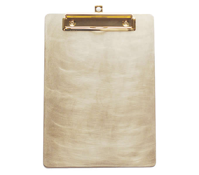 Brass Document Paper File Holder Clipboard Folder Clip Organizer