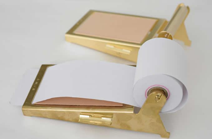 Brass Note Pad Holder Memo Dispensers