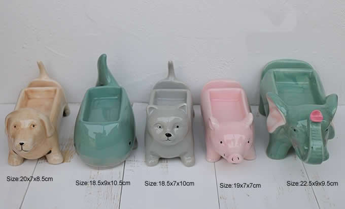 Ceramic Animal Paper Clip Holder With Mobile Phone Display Stand