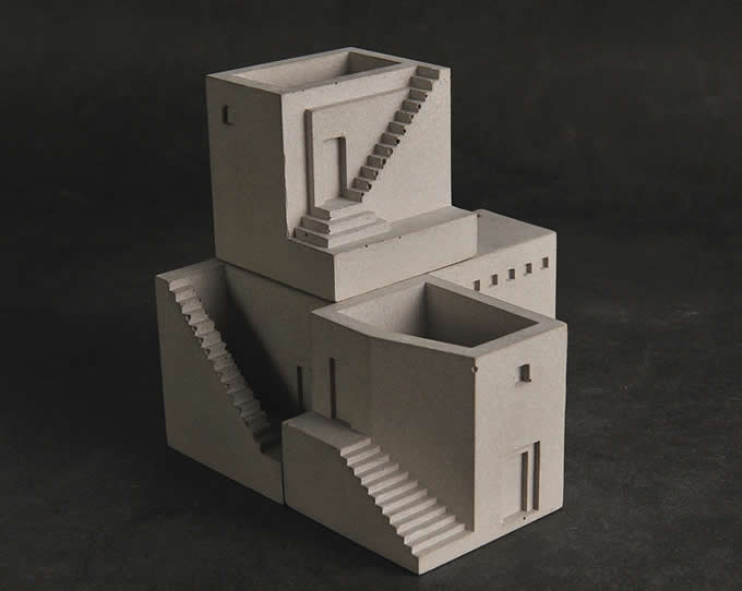Concrete Block Desktop Decoration