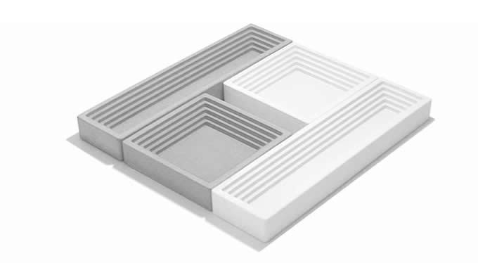Concrete Tray Stationery Storage Box Desk Organizer,Set of 2