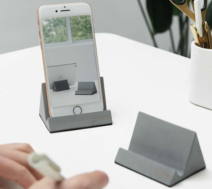 Concrete iPad Cell Phone Stand Holder Mobile Phone Dock