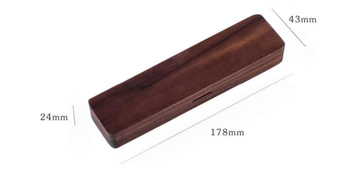 Customize Logo/Name Engrave Wooden Single Pen Pencil Protective Box Case