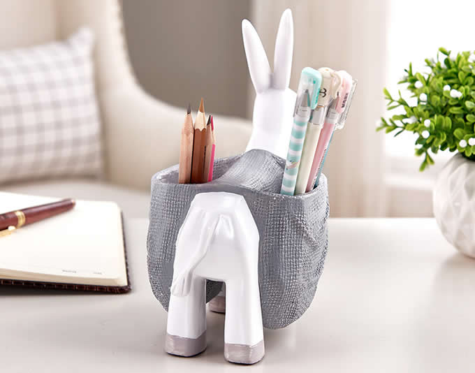 Cute Donkey Pen Pencil Holder Desk Decoration Accessories