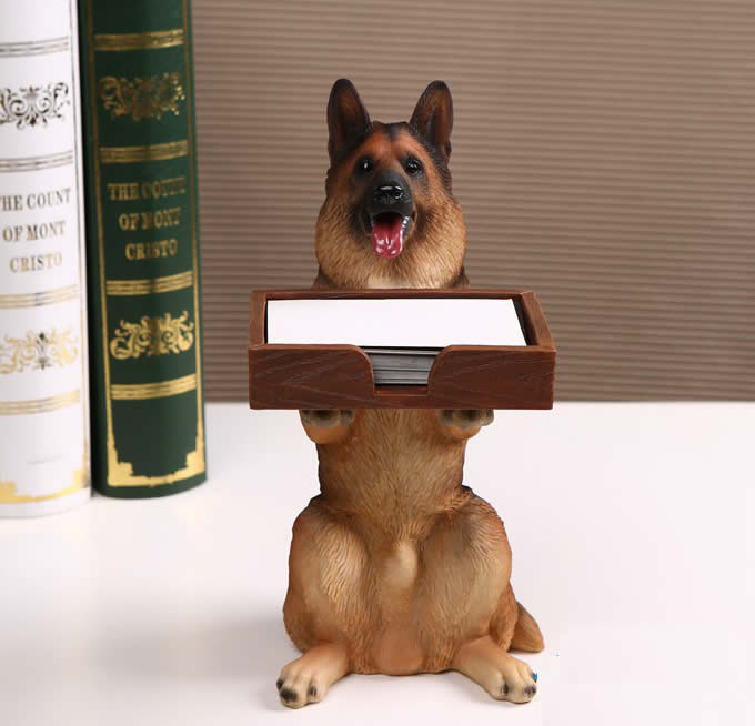 Dog desk business card holder feelgift dog desk business card holder colourmoves