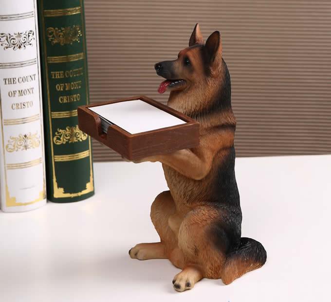 Dog desk business card holder feelgift dog desk business card holder reheart Gallery