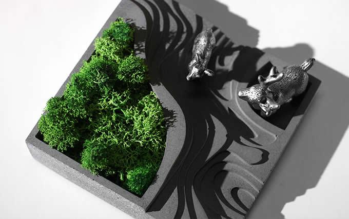 Handmade Concrete Architectural Succulent Planter