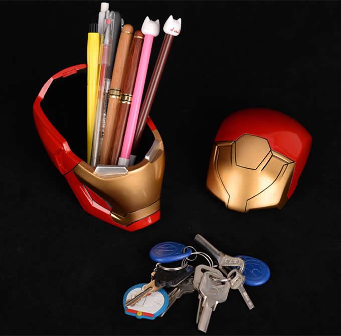 Iron Man Pen Pencil Holder  Ashtray Desk Stationery Organizer