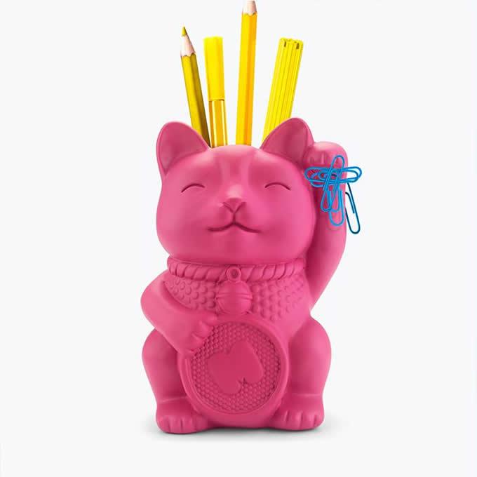 Magnetic Cat Pen Pencil Holder