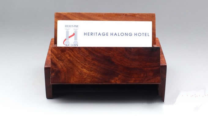 Nature  Bamboo Wooden Business Card Case Holder