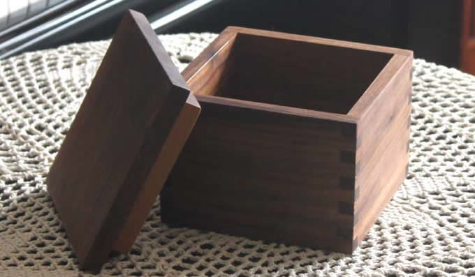 Nature Wooden Office Desk Organizer Storage Box