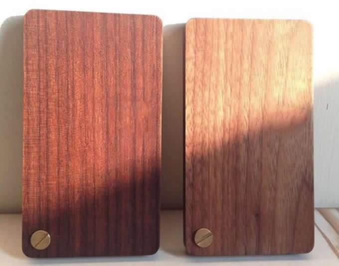 Slim Wooden Business Card Holder Case