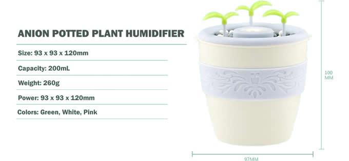 USB Portable Desktop Plant Humidifier