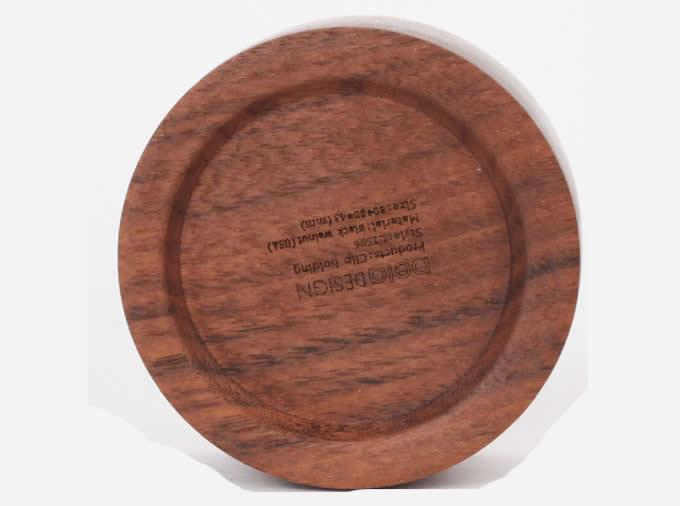 Wood Magnetic Paper Clip Holder