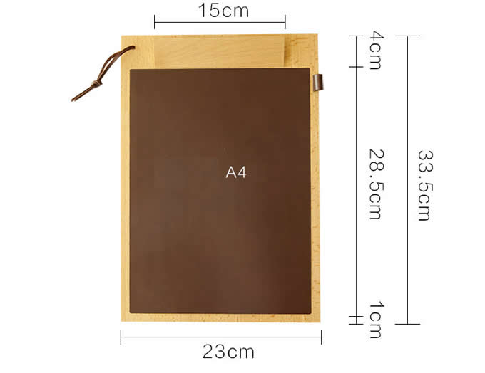 Wooden Hanging Writing&Drawing Clipboard