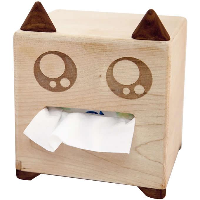 Wooden Cartoon Tissue Box Cover Decorative Tissue Box Holder
