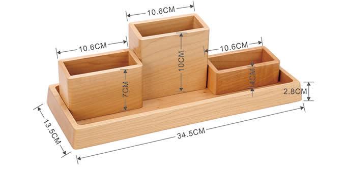 Wooden Desk Organizer Home Office Accessories Set U2013 4 Piece Set