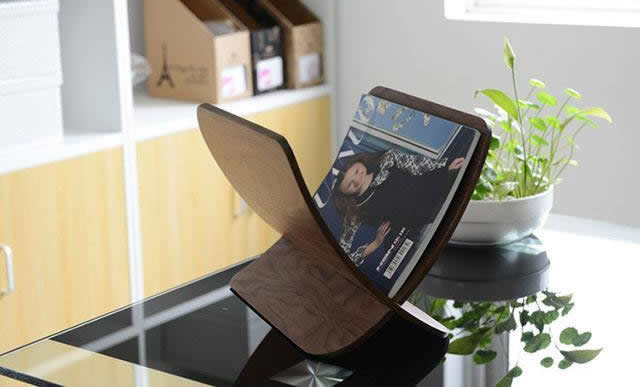 Wooden  A4 Print Papers Magazine File Holder Organizer Rack