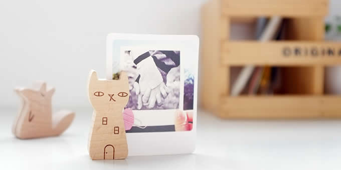 Wooden Miniature Animal Place Card Holders Photo Card Holders