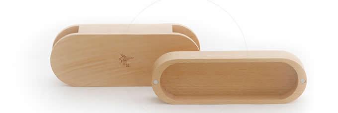 Wooden Pen Pencil Jewelry Box Case Storage
