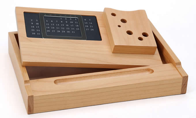 Wooden Multi Function Desk Stationery Organizer Storage
