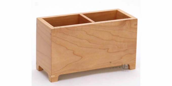 Wooden Struction Multi Function Desk Stationery Organizer