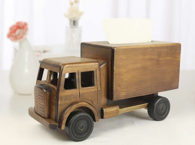 antique wood toy trucks handmade wooden truck tissue box feelgift